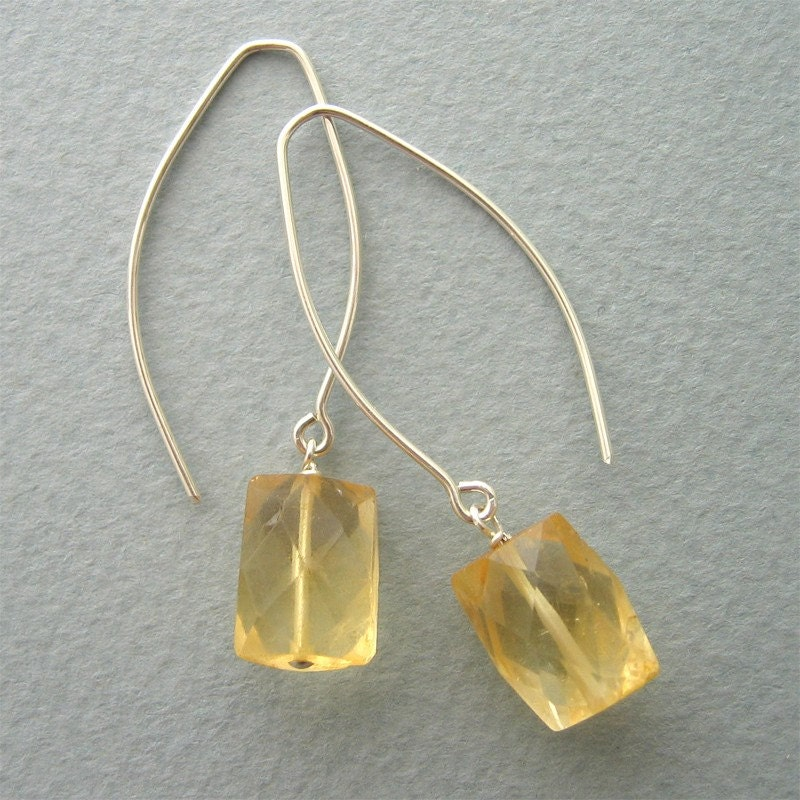 Everyday Earrings - Citrine Yellow