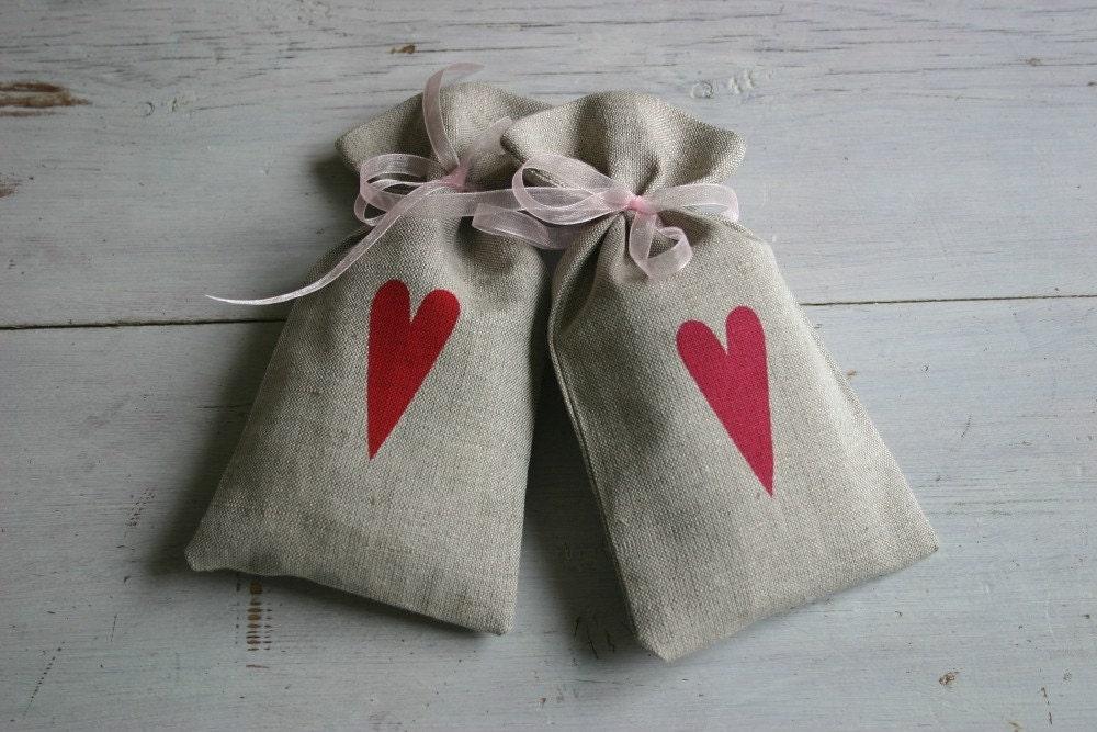 Organic Lavender Sachet - Cerise Heart