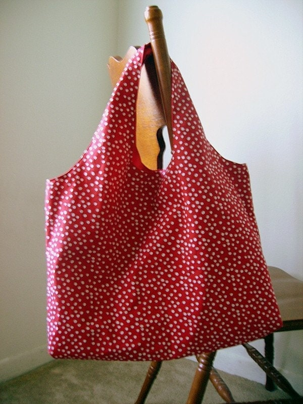 Etsy :: KrazyFashion :: Big Red Polka Dot Multi Purpose Tote from etsy.com