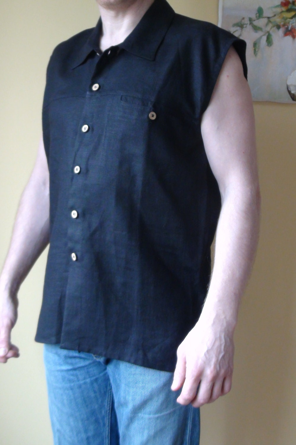 A sleeveless shirt is a shirt manufactured without sleeves, or whose sleeves have been cut off. Sleeveless shirts are worn by people of any gender, depending on .