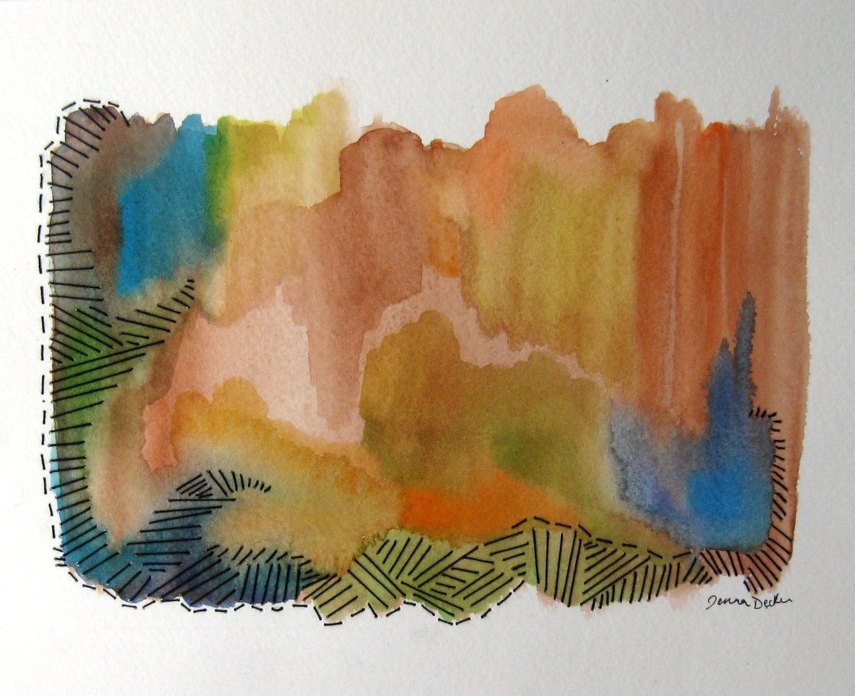 Original fine art mixed media painting by musicalcolorstudio