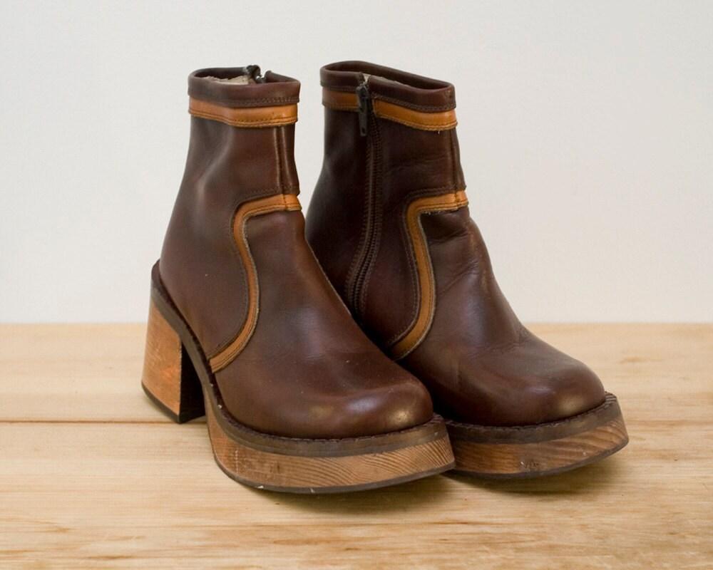 vintage platform boots by singularitievintage on etsy