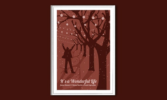 It/'s A Wonderful Life Christmas Classic Film Movie Poster No Frame
