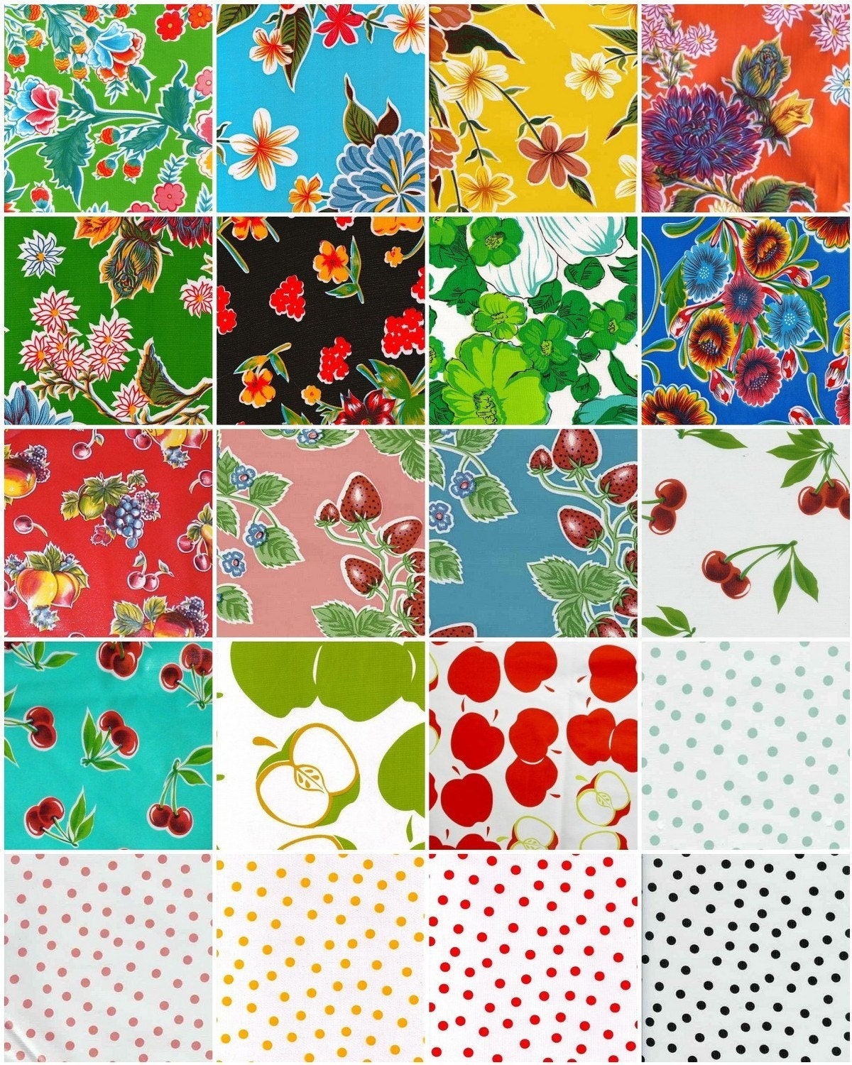 1/2 yard of your choice of Oilcloth from OILCLOTH ADDICT