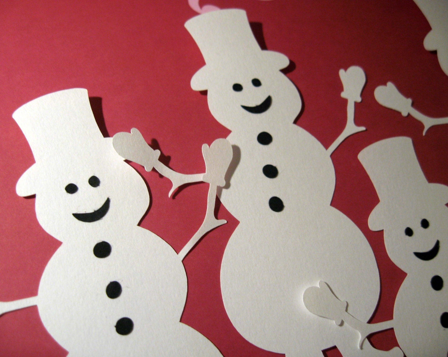 Set of 4 Snowmen Die Cuts 5 Inches