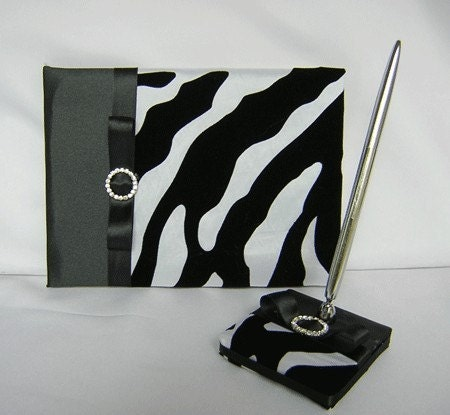 /zebra print wedding theme