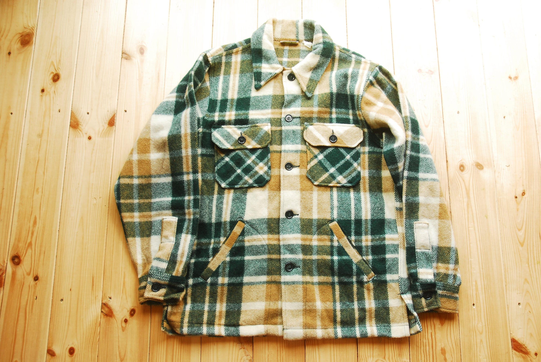 Vintage L.L Bean Wool Mackinaw Cloth Plaid Lumberjack Field Jacket Shirt Hunting Shooting Medium