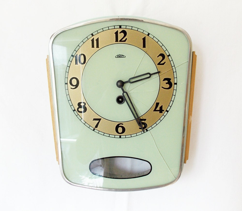 Vintage 1950s Kitchen Wall Clock Made In By Halldervintage