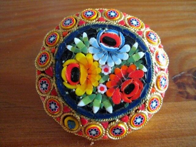 Vintage Venetian Mosaic Pin