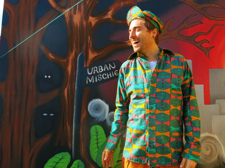 Highlife Shirt  Mens Shirt  Festival Costume  African wax print  Festival Shirt  Crazy print  Colourful shirt