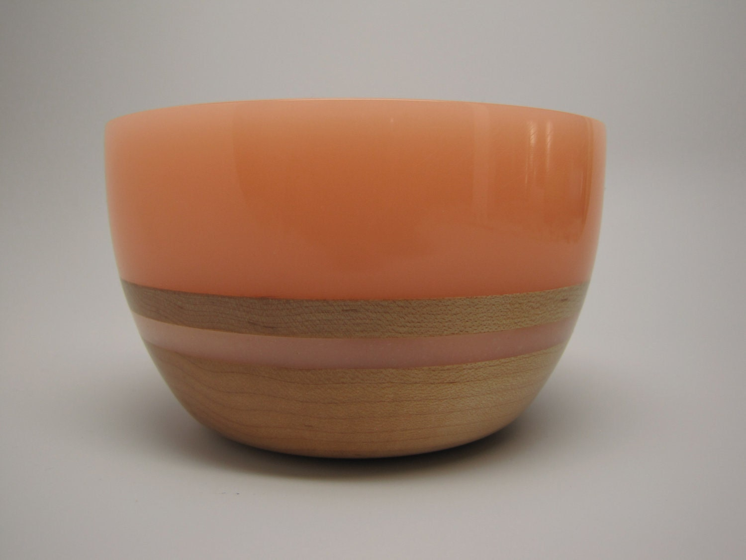 Hard Wood Maple Bowl with a Frost Lite-Orange Top & Inlay
