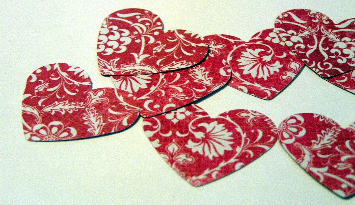 Red Floral Hearts