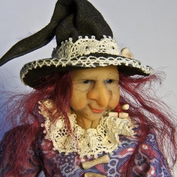 Witch - a ooak 12th scale miniature doll by UlrikesOOAKBabies