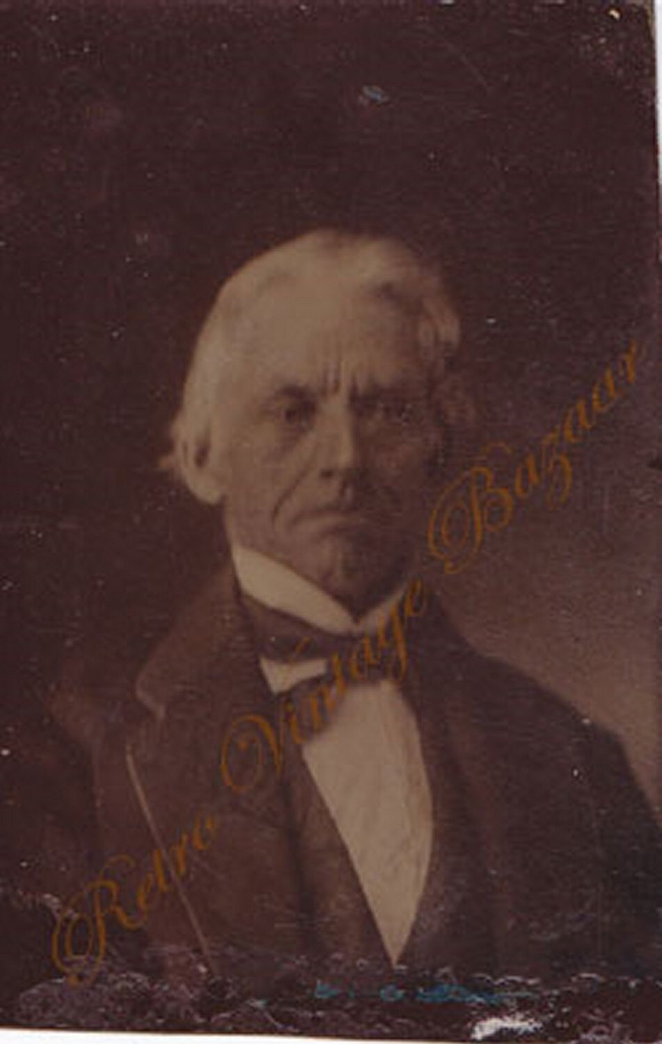 Tintype Photo Circa 1800s Distinguished Man