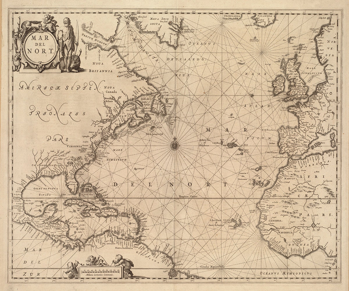 The Gallery For Gt Antique Nautical Maps