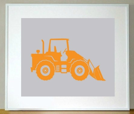 Endloader Truck Print 8 x 10 children's construction, wall art