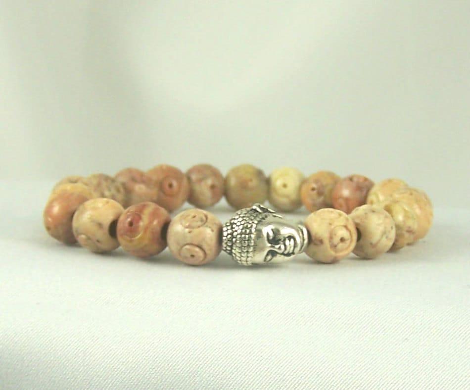 Buddha Bracelet, Buddhist Jewelry,  Stretch Bracelet, Spiritual Jewelry, Free Shipping