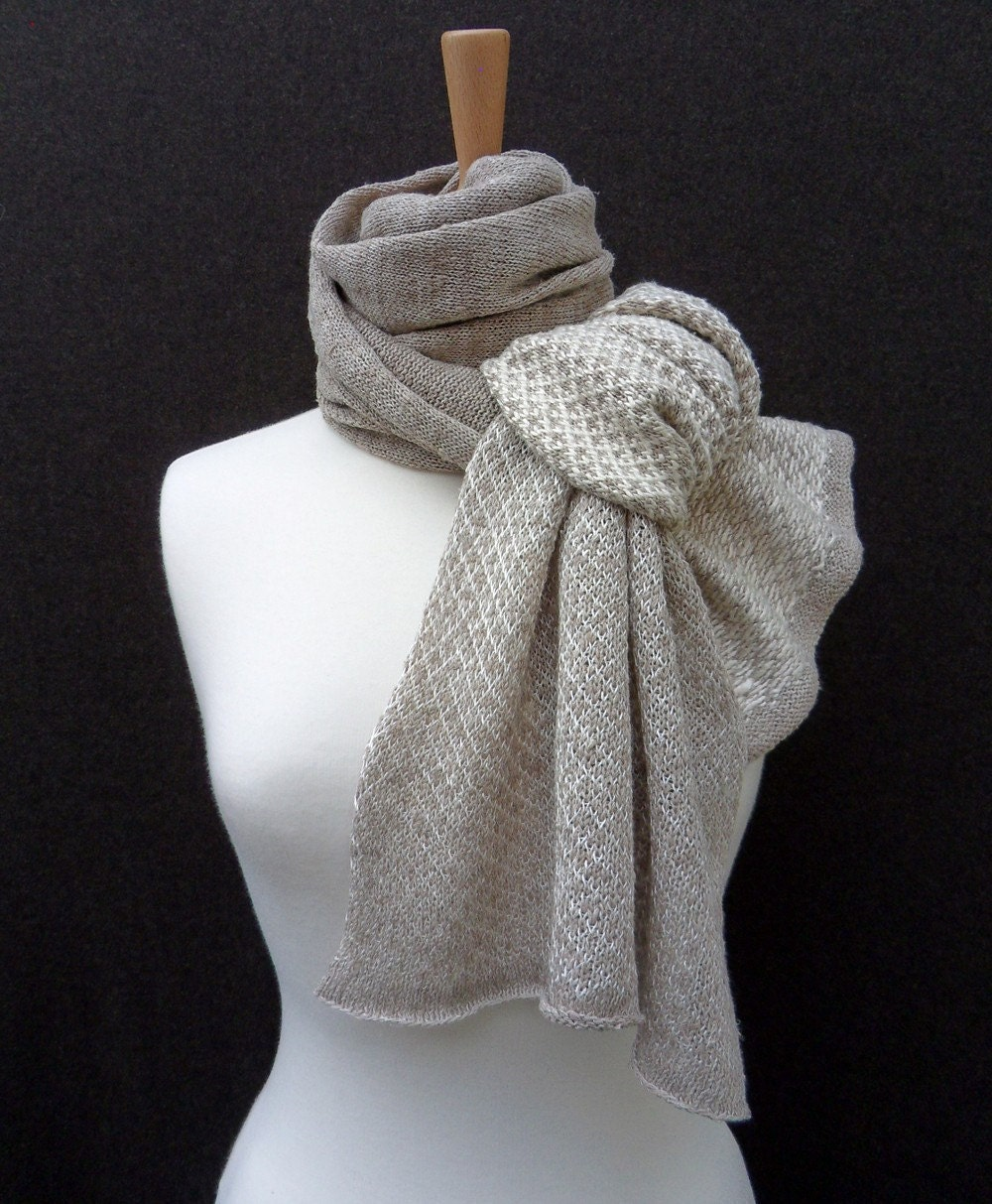 Linen and Silk Festival Scarf