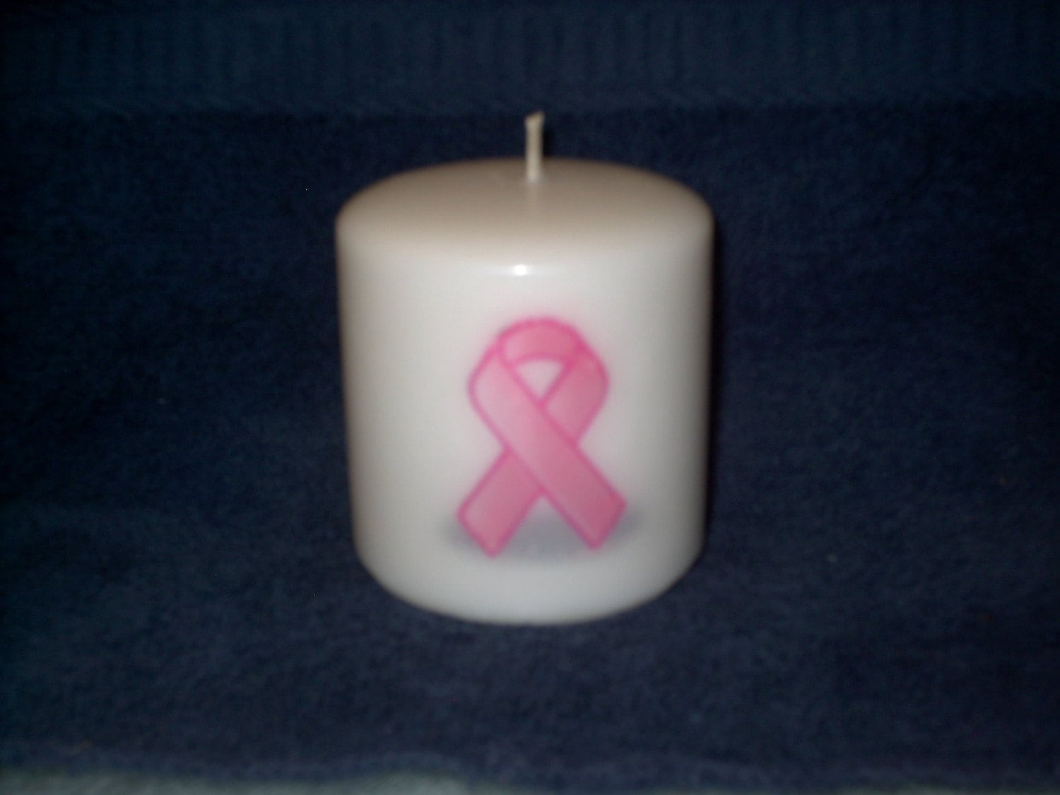 Breast Cancer Awareness Pink Ribbon Candle