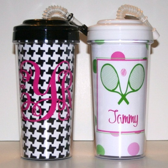 Personalized Travel Tumbler with Straw 20oz