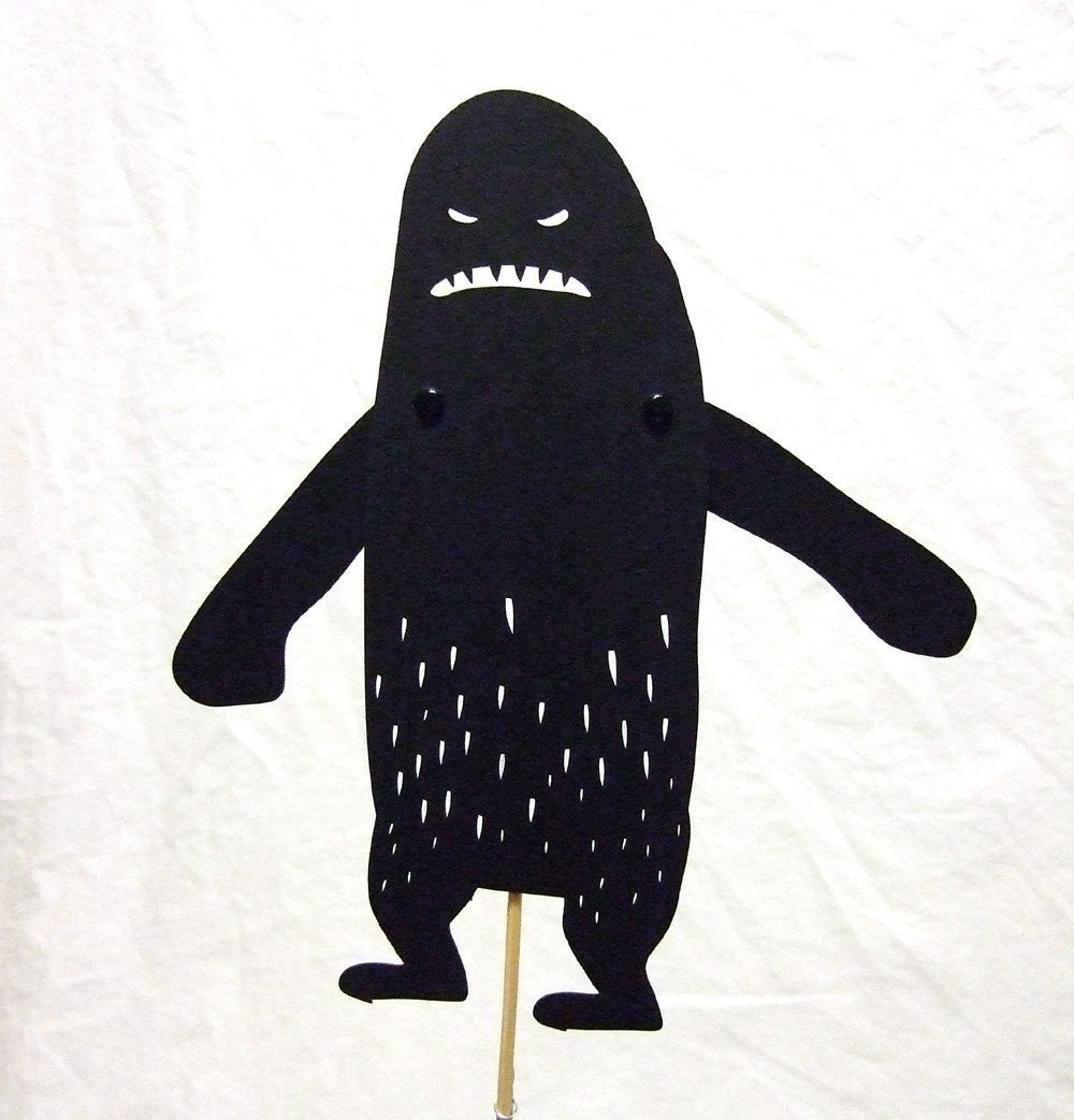 Yetti shadow puppet