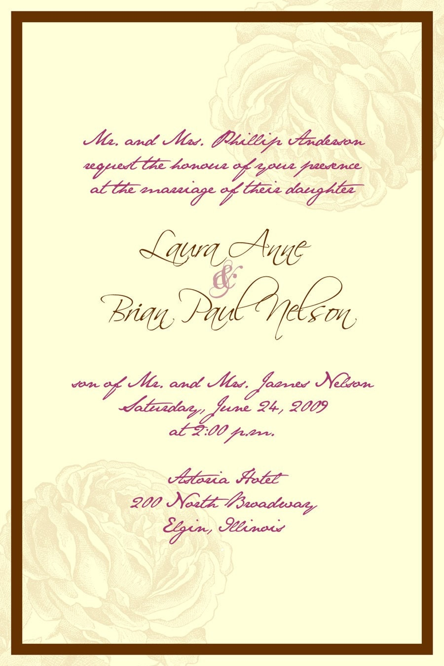 Catholic Wedding Invitation Wording