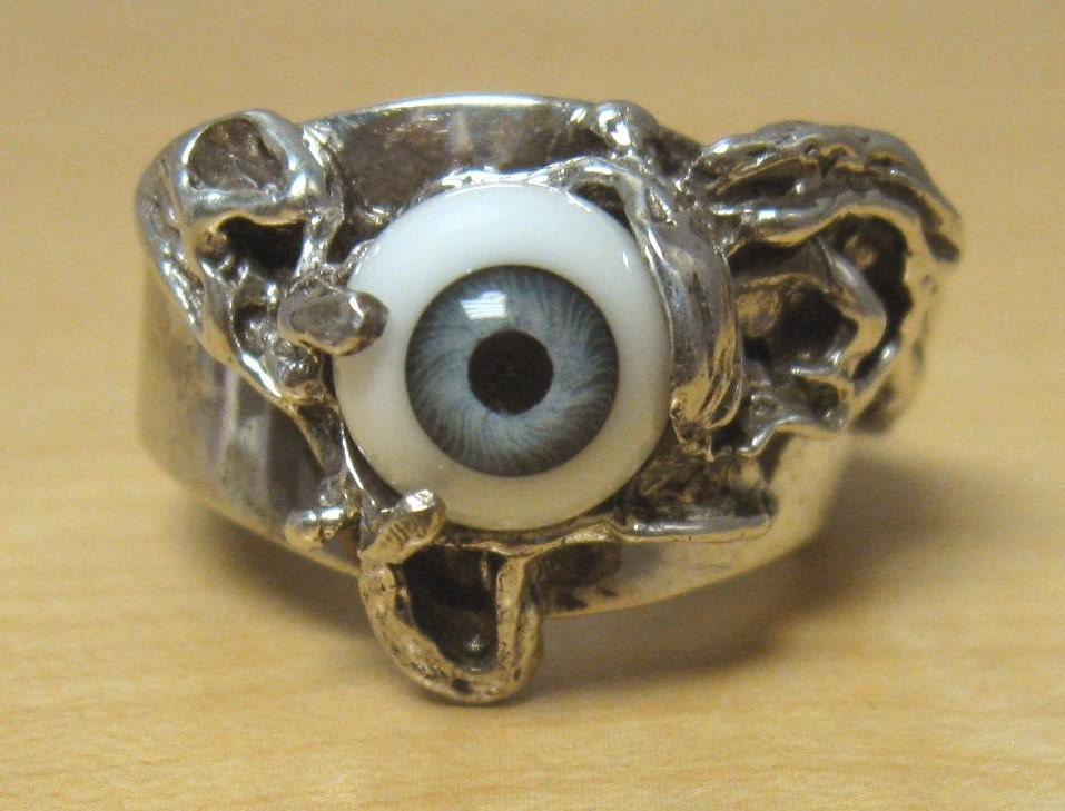 silver ring iris. 70s Abstract Sterling Silver