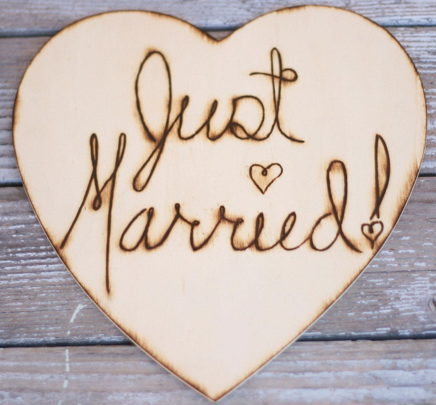 Just Married Sign Photo Prop Rustic Wedding