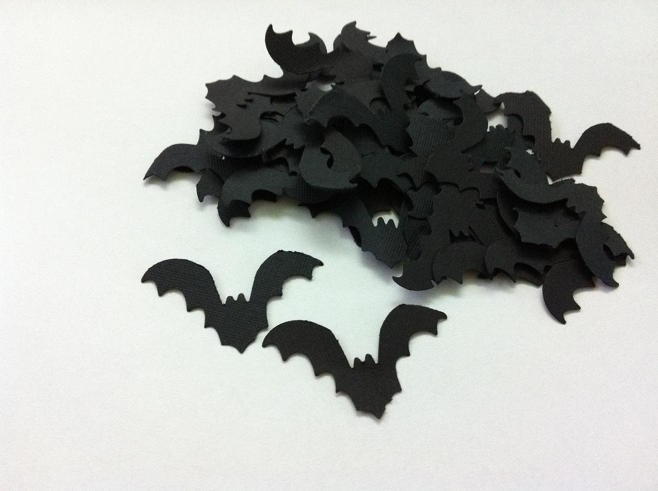 Hand Punched Bat for Halloween Decorations Cards Tags by GULTEN