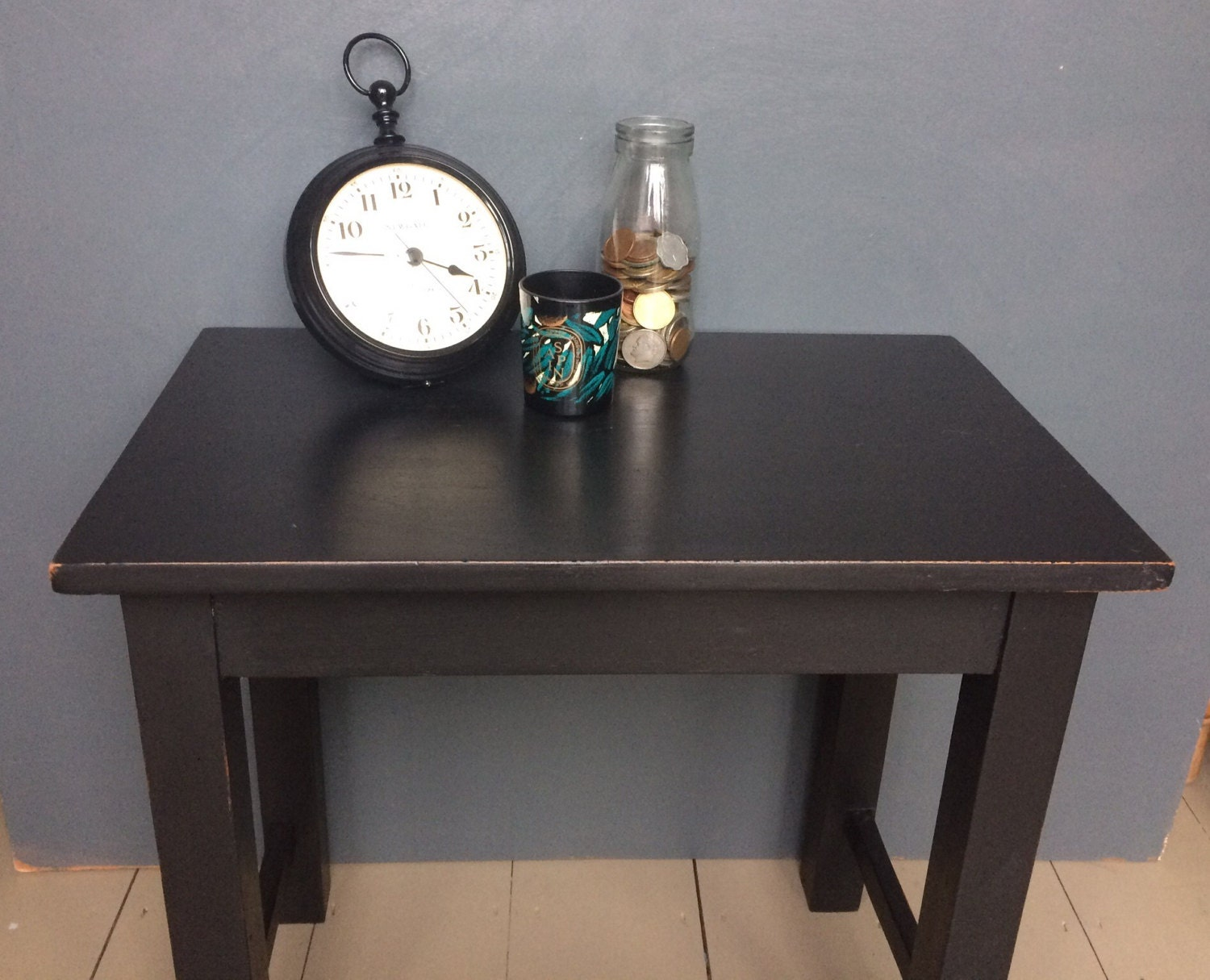 Hand painted Teak Coffee Table  Side Table  Bedside Table  Occassional Table  Lamp Table