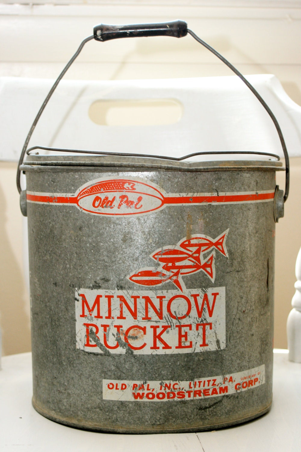 Vintage Old Pal Minnow Bucket by TheCozyOldFarmhouse on Etsy