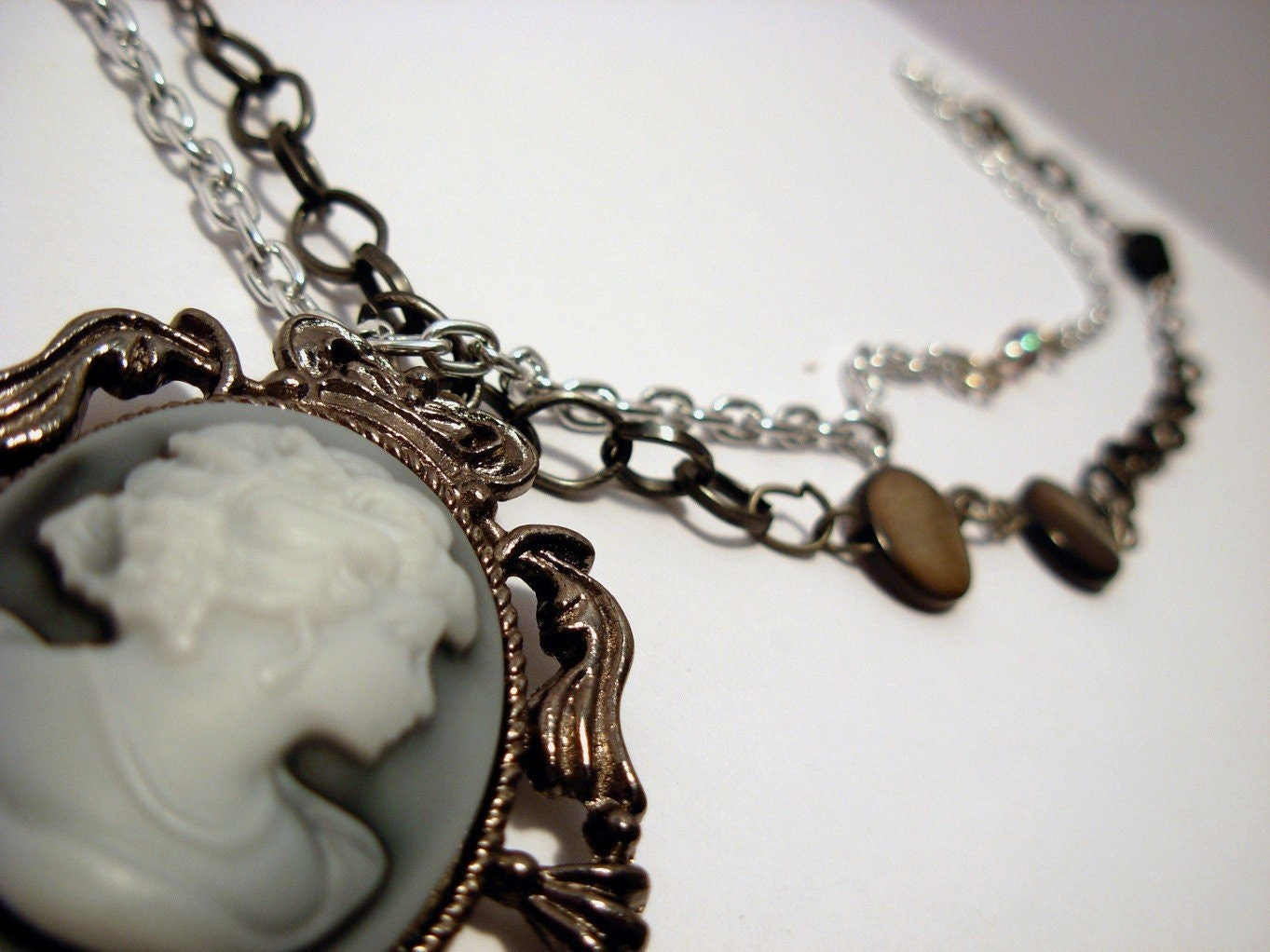 Victorian Gothic Cameo Necklace