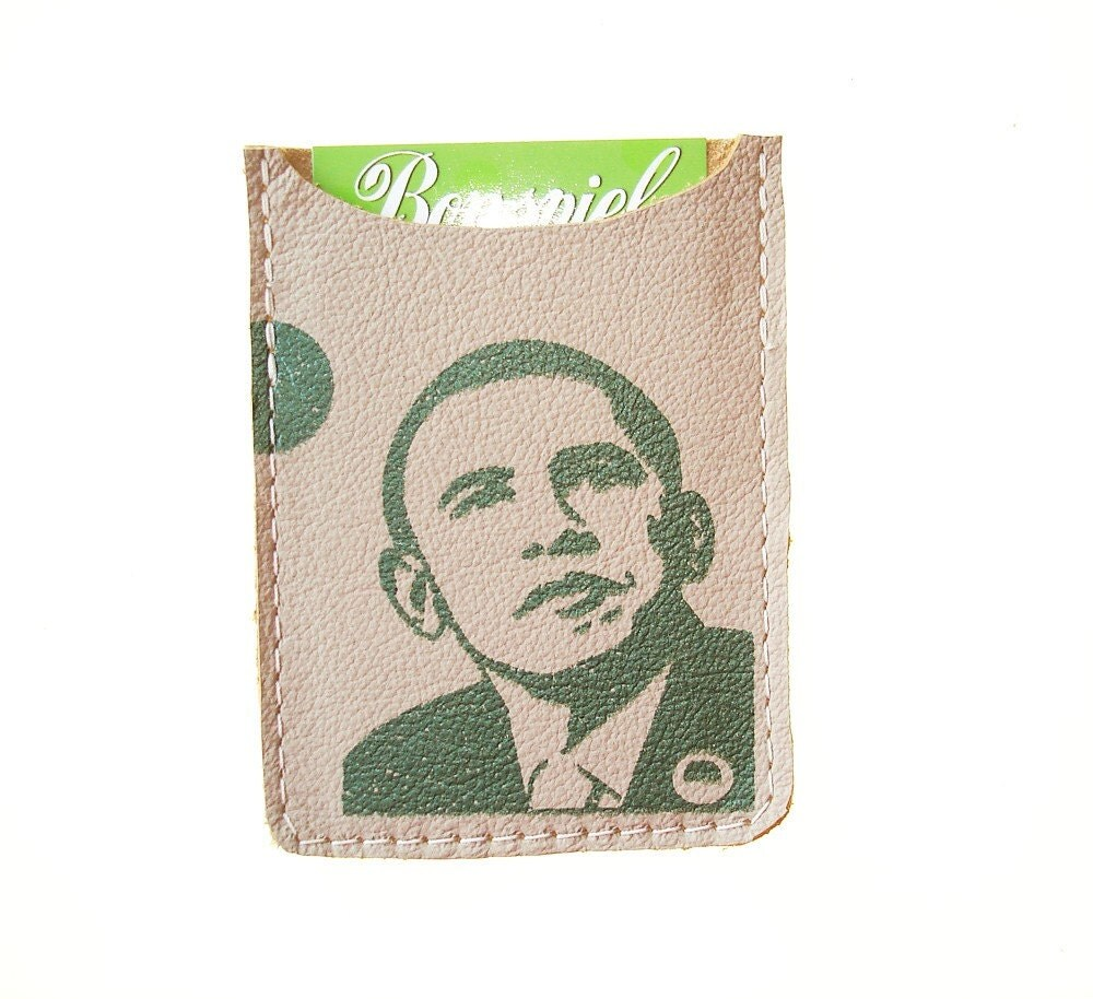 Debit card  sleeve--Obama
