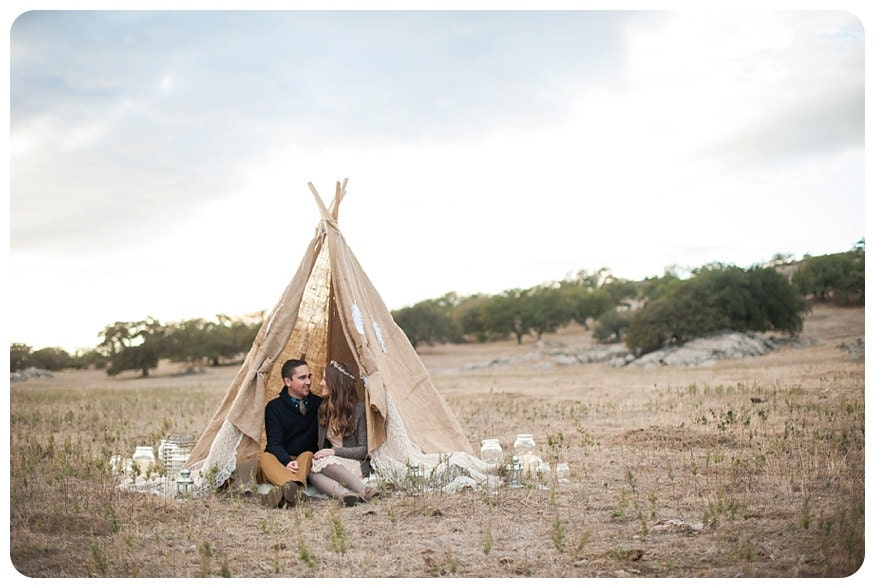 Burlap and Lace TeePee