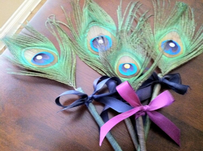 Peacock Wedding Favor-Peacock Pen-Peacock Feathers