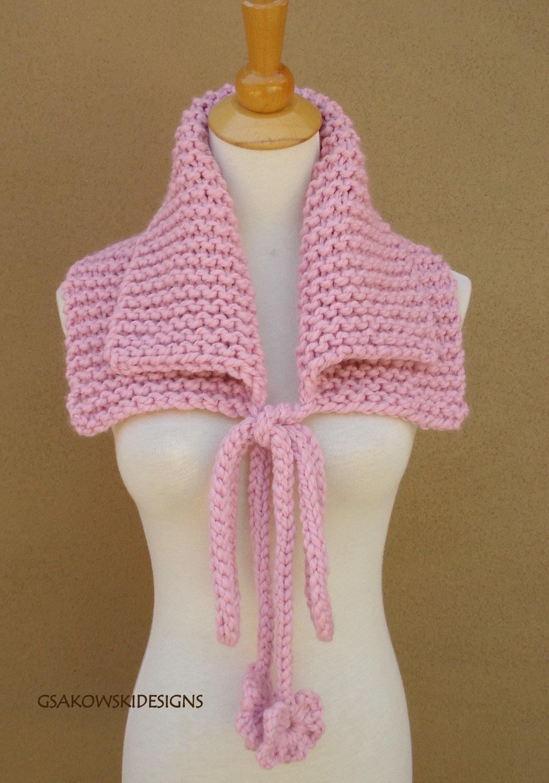 Josephine Cowl-Neck Warmer-Pink