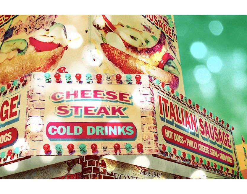 Cheese Steak Carnival Food Vendor Fine Art Photograph - EyeShutterToThink