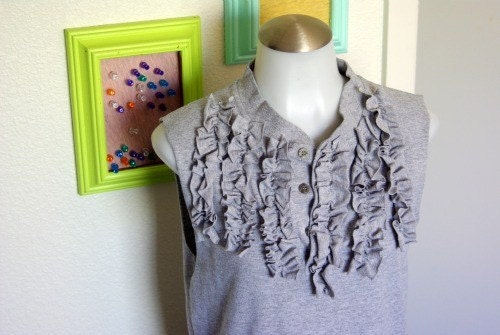 10 SALE Grey Skies Top