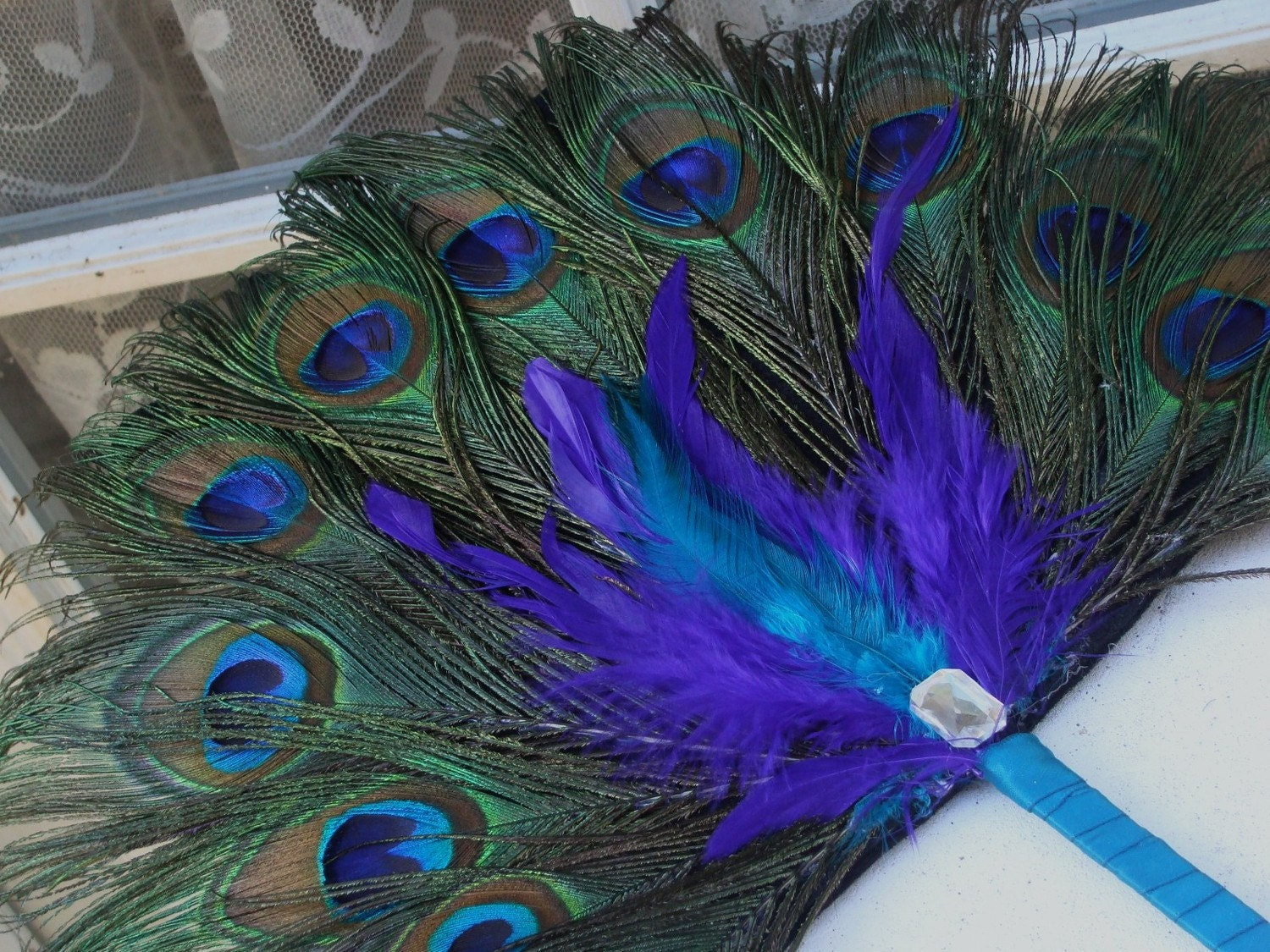 Purple peacock feather