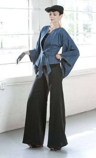 Kimono Sleeved Denim Jacket