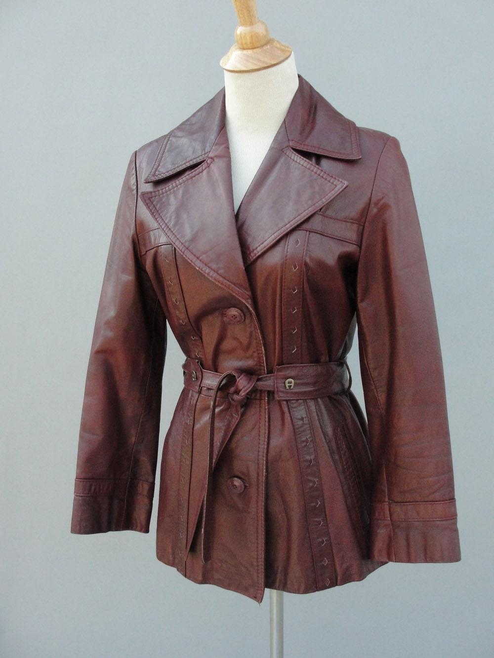 VINTAGE 1970s ETIENNE AIGNER Leather Blazer Jacket