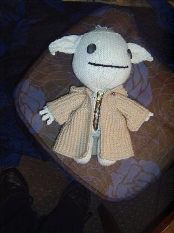 SACKBOY Star Wars YODA Hand Knitted Doll