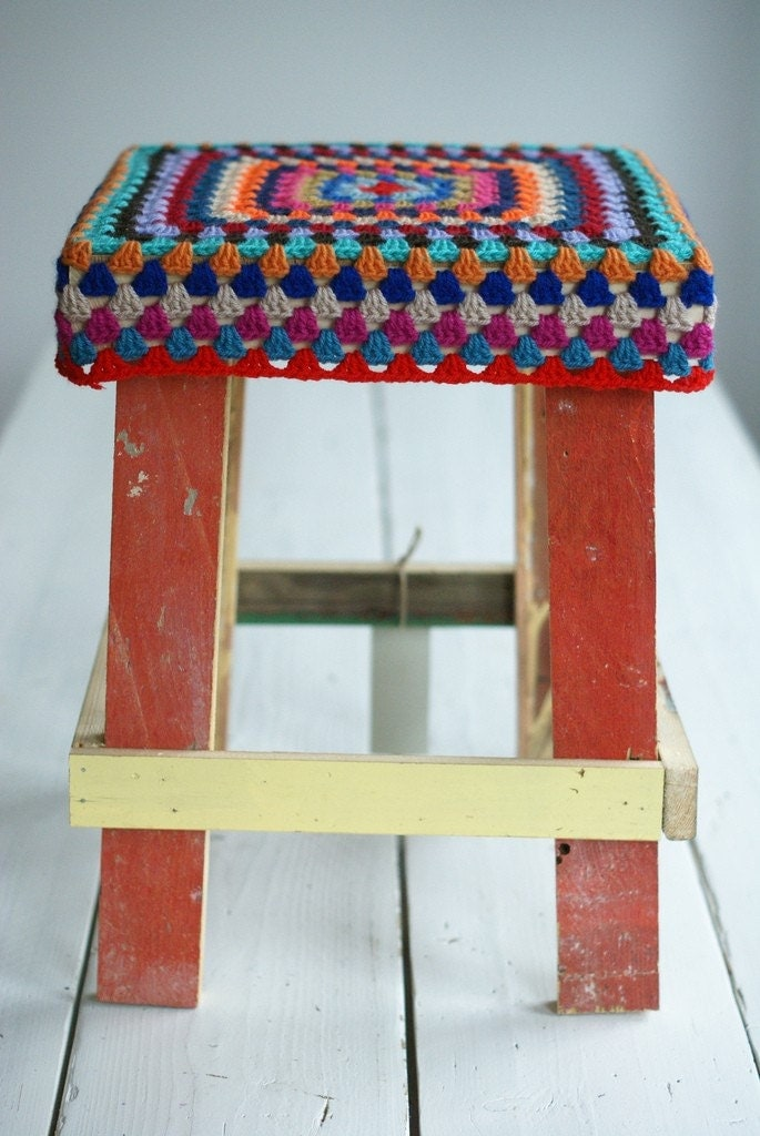 wood and wool stool