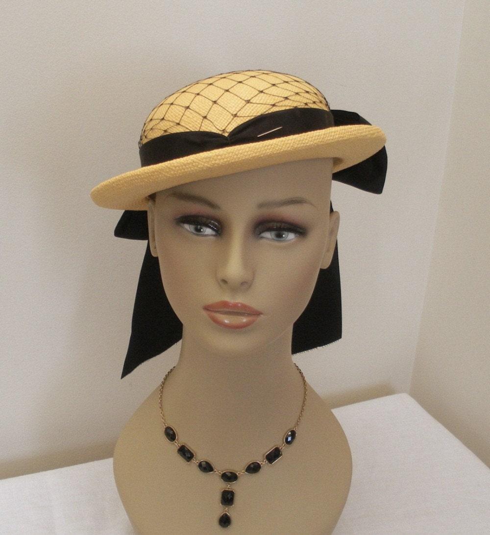 vintage 1940s womens genuine panama hat by wildroseprimitives
