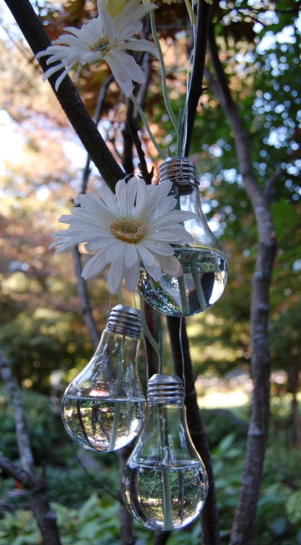 Vintage Vase from Recycled Light Bulb - ExclusiveDesignArt