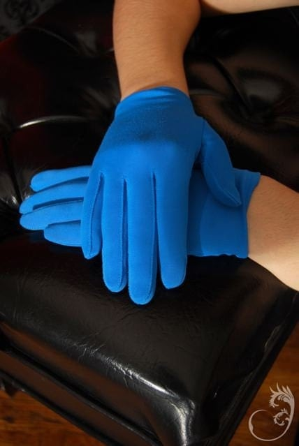 Bright Blue gloves