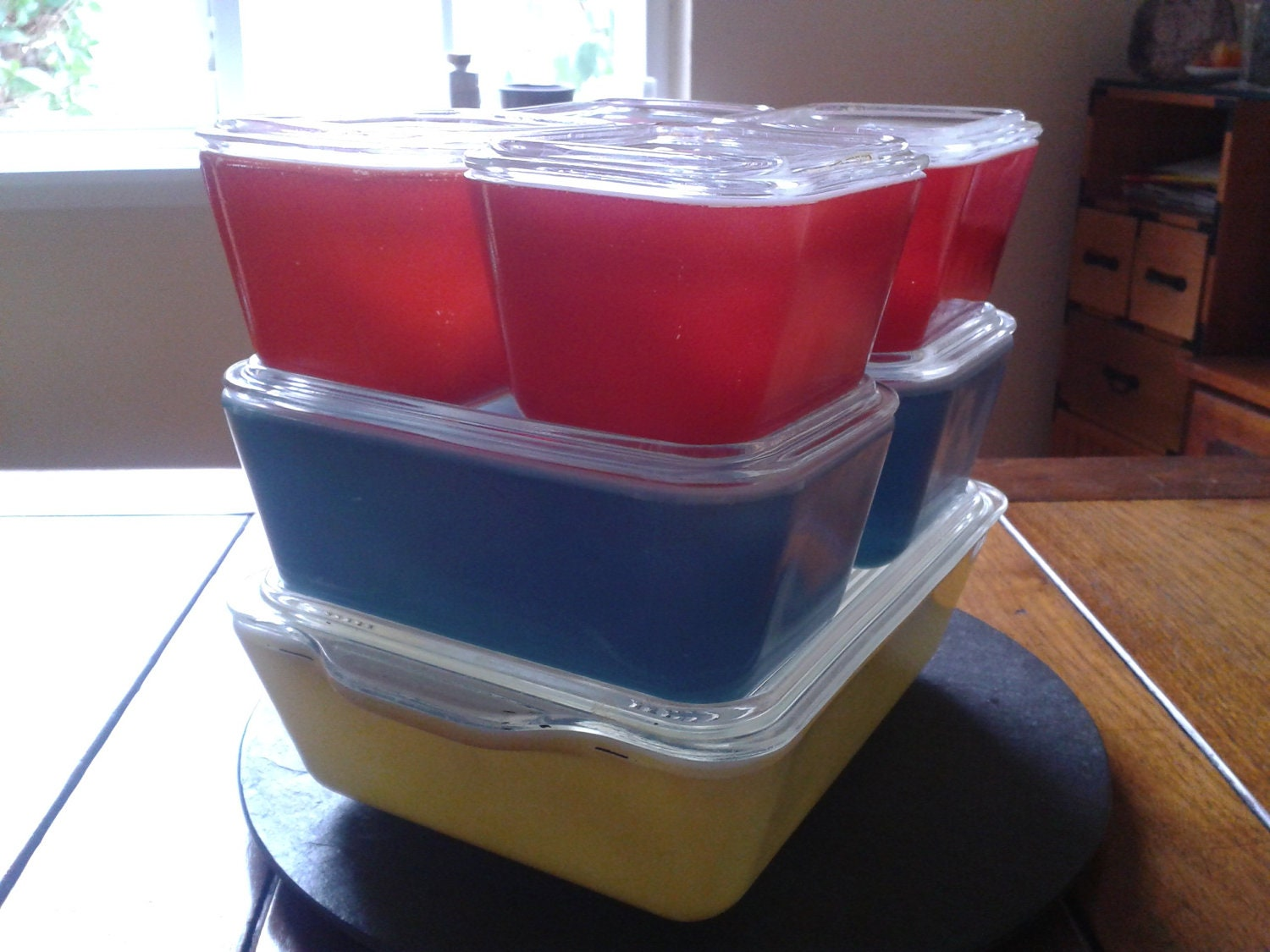 Supersized pyrex refrigerator glass food storage container set 14