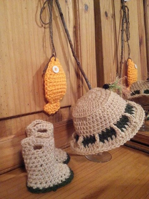 Items similar to Pattern for Crocheted Fishing Hat Water ...