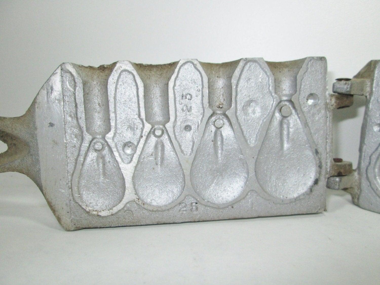 Vintage tonawanda sinker mold fishing weight by girlpickers for Fishing sinker molds