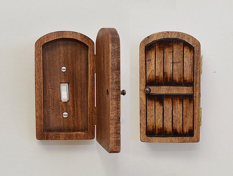 Distressed wood fairy hobbit door outlet by brynandjeremiahs for Wooden elf door